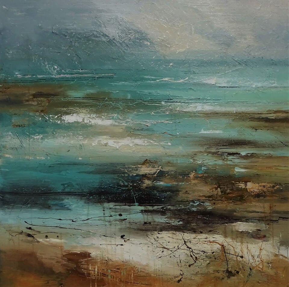 Claire Wiltsher Beyond the Surface II mixed media 80 x 80cm unframed 80x80cm