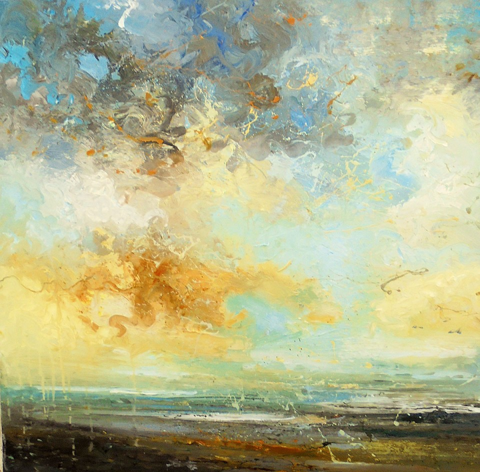 claire wiltsher  landscape artist at coastal gallery