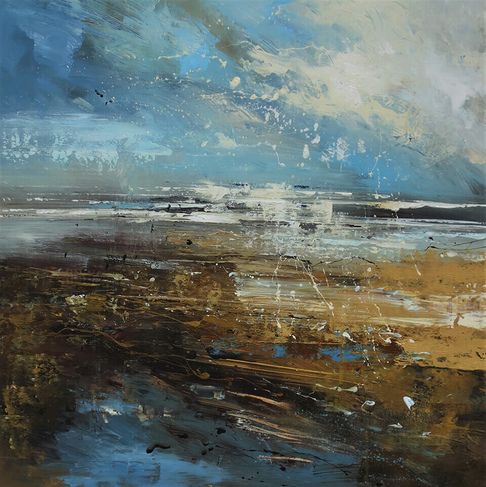 Claire Wiltsher 'Scale of the Matter' (series) mixed media 80x80cm unframed