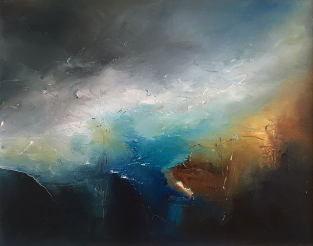 Jennie-Slater-Seascape-VII-mixed-media_framed