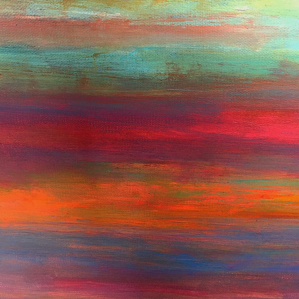 Stewart Mechem Coastal Abstract series acrylic on canvas unframed