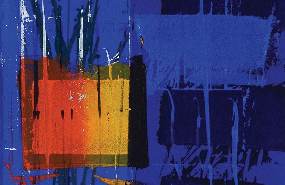 Heartsong Series: silkscreen monoprint by Martyn Brewster
