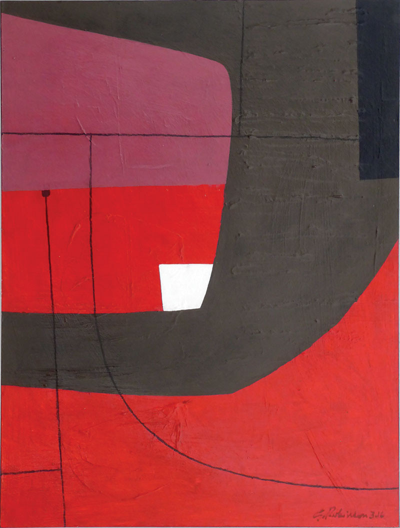 Geoffrey-Robinson-RED-HARBOUR-mixed-media_framed-