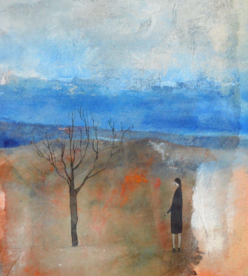 Julie-Collins-'Silent-Tree'-mixed--media_framed-