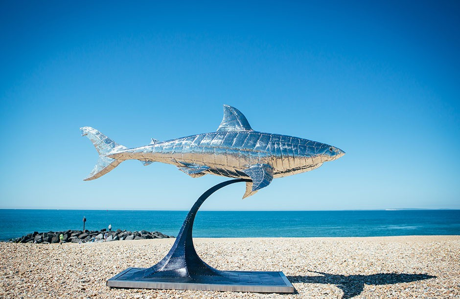 Michael Turner Sculpture - Great White