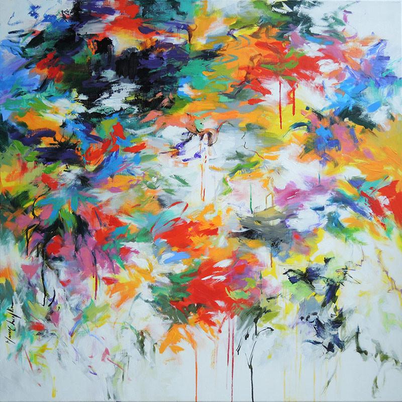 MaryChaplin-'The-Swallows-are-Back'-acrylic-on-canvas_unframed