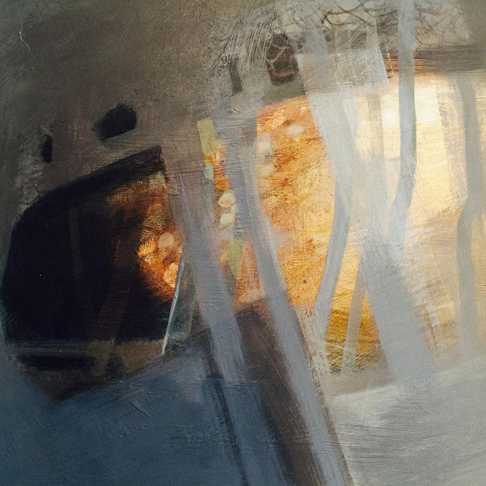 Alison-Bolton-Forest-Stream-I-Acrylic-on-board_framed