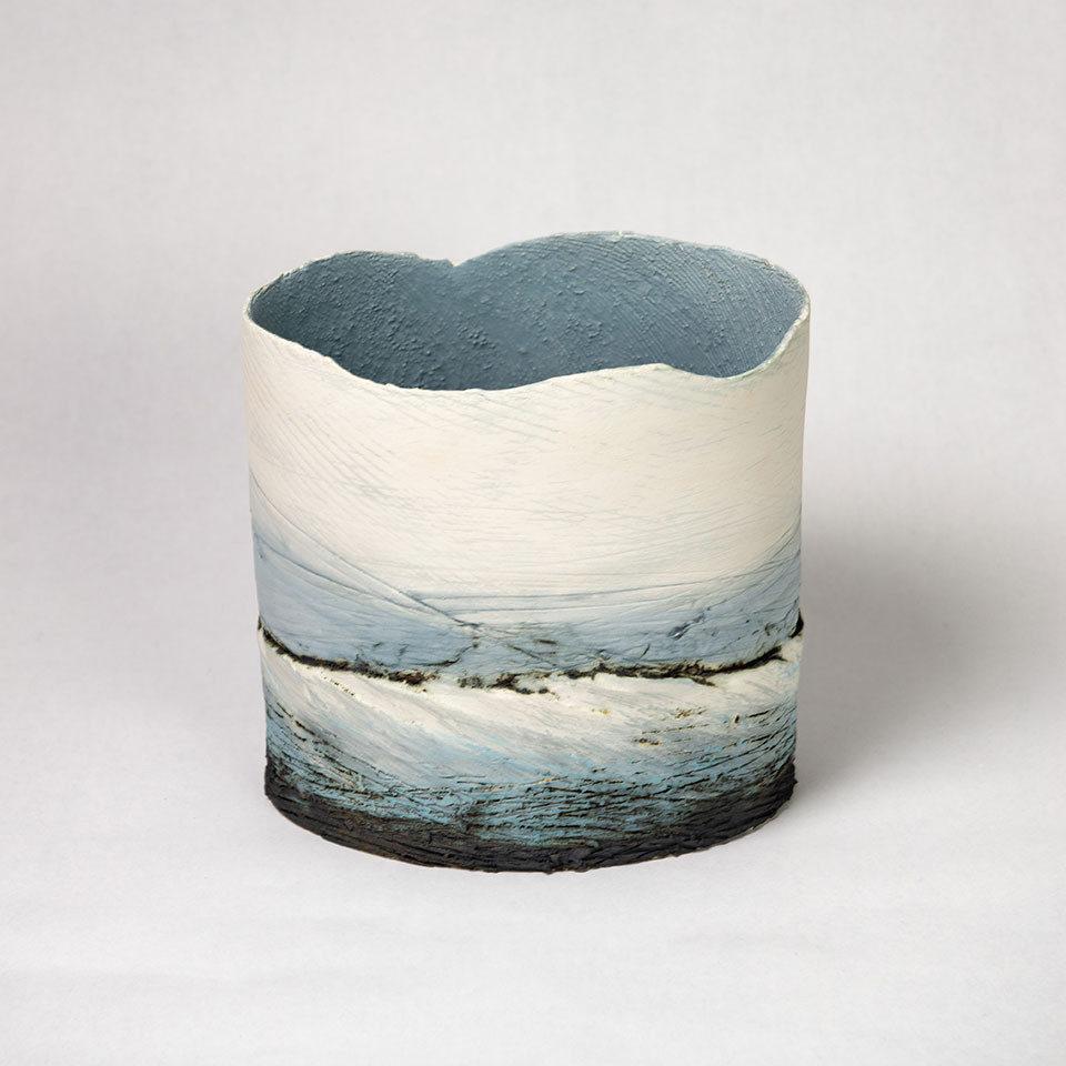 Wendy Farley 'Blue Wave' slab vessel