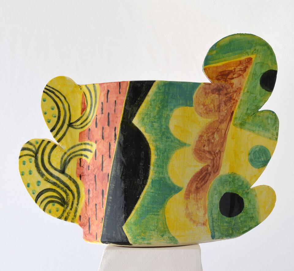 Peter Arscott Landscape Vase stoneware