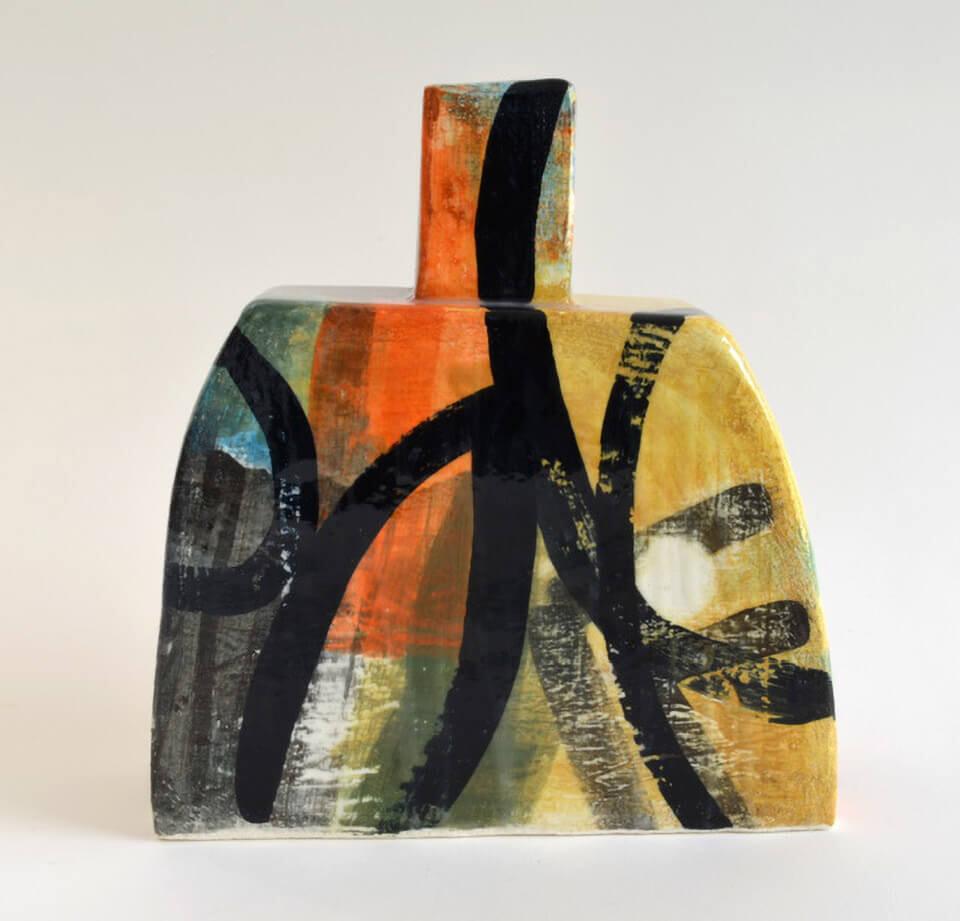 Peter Arscott Loop Bottle stoneware