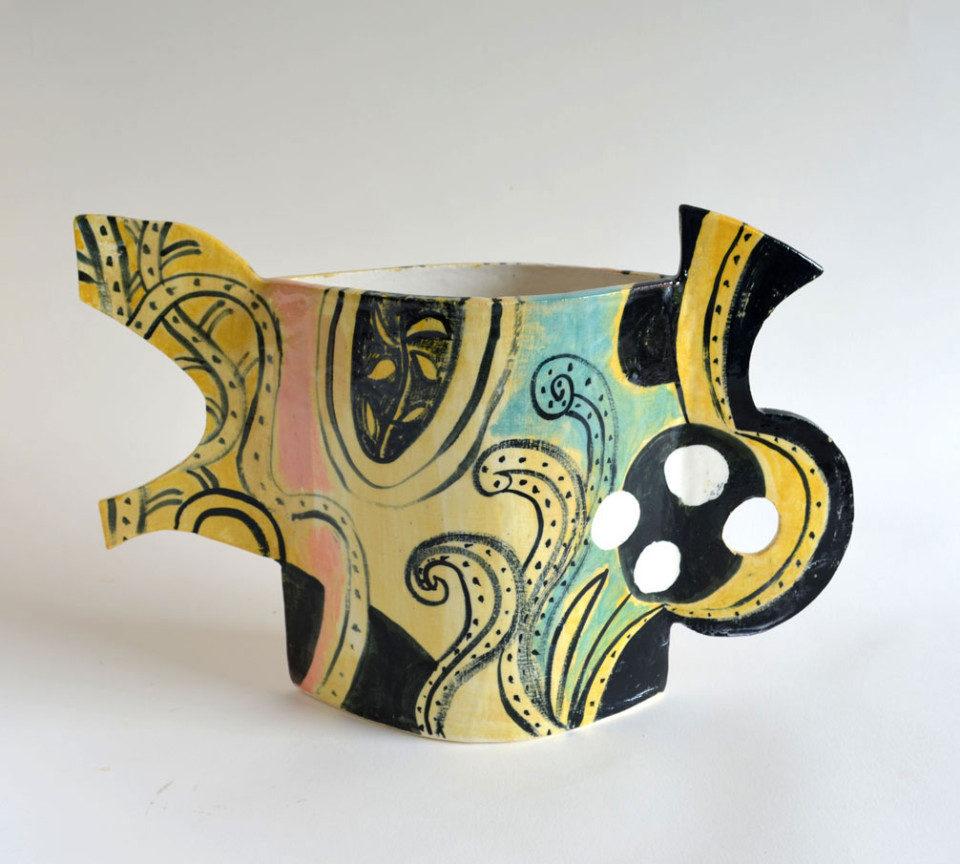 Peter-Arscott-Pink-and-Ochre-Vase--stoneware-