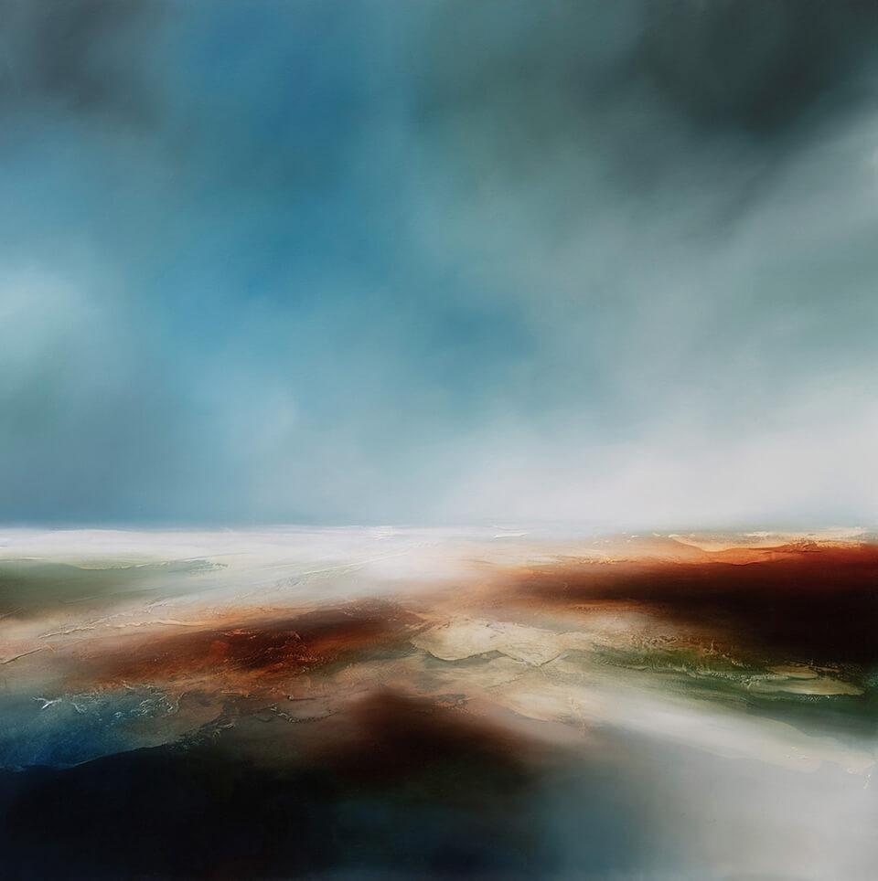 Paul Bennett Blue Cloud oil on canvas 100 x 100cm unframed