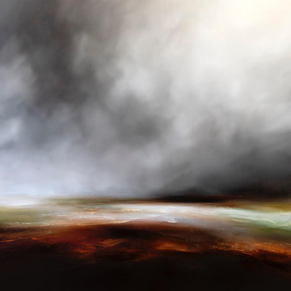 Paul Bennett The Sleeping Marshes oil on canvas 100 x 100cm unframed