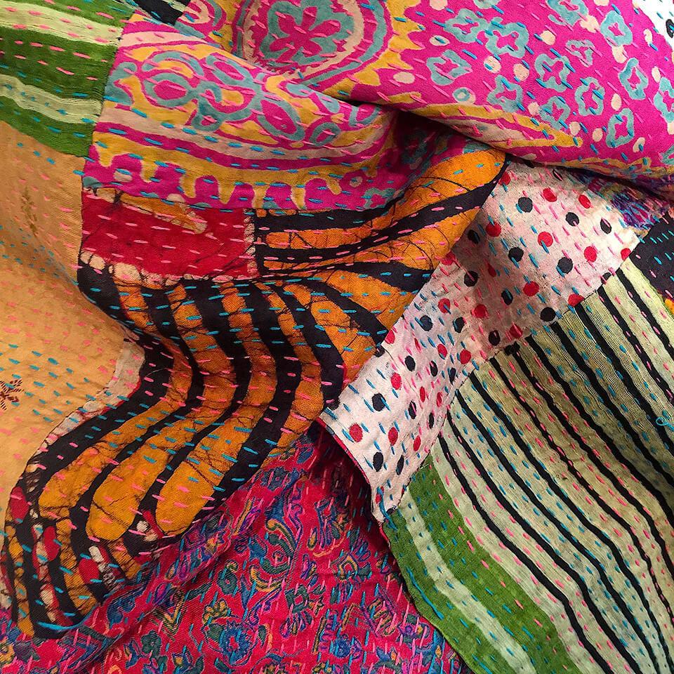 Vintage sari pashminas