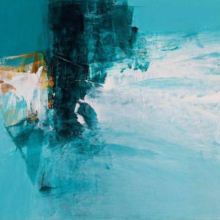 Neil Canning 'Sea Air' 30 x 35c m mixed media on panel